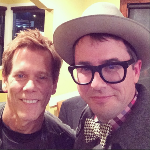 Professor Dumpster shares The Dumpster Project with Kevin Bacon during a SXSW event.